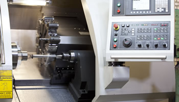 CNC Machine with Monitor